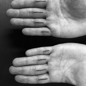 Handpoked (no machine)
