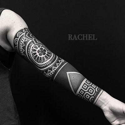 Rachel / Dot work / Géométrique / Gravure