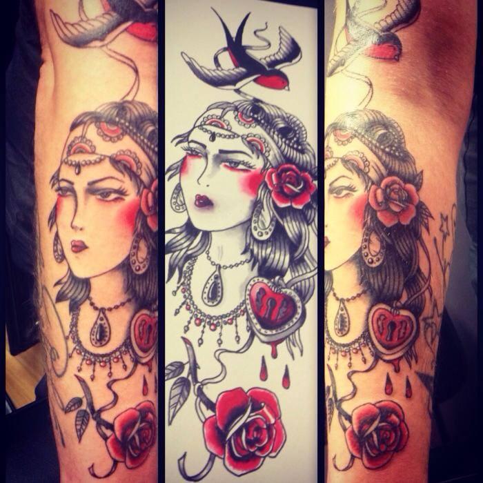 Pin mon tatouage niglo le gitan fruski board on pinterest - Tatouage gitane signification ...